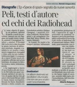Peli, testi d'autore ed echi dei Radiohead