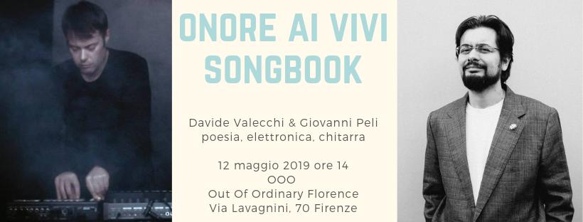 onore ai vivi songbook